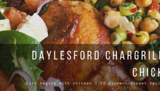 roast chicken and homemade salads