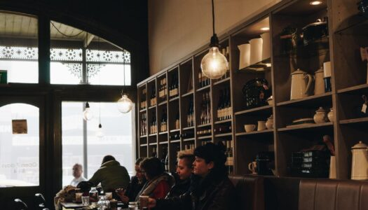 inside view of larder cafe