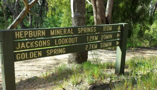 sign at mineral springs reserve