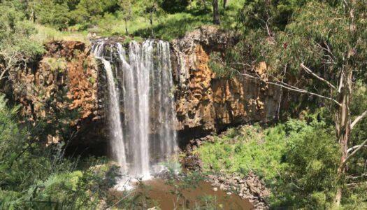 water fall at trentham falls