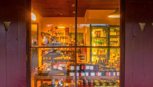 view through glenlyon general store window