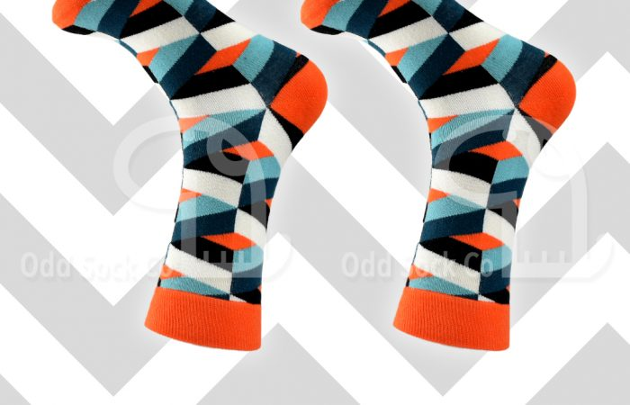 odd sock co geometric design socks