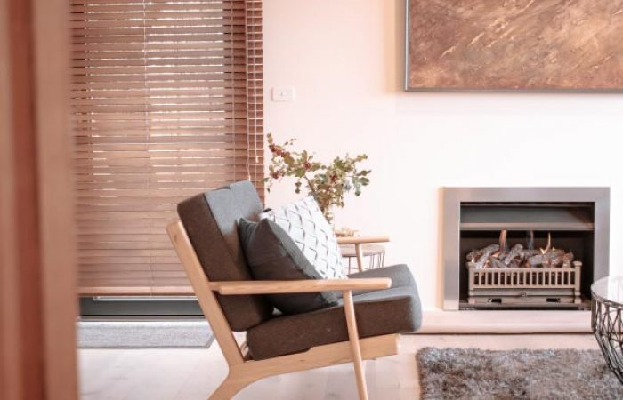 lounge and fireplace at daybreaker daylesford